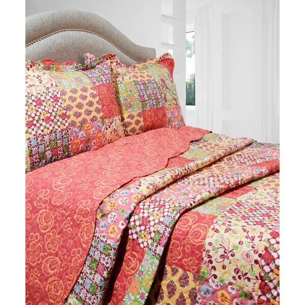 Slumber Shop Madeline 3-piece Reversible Quilt Set