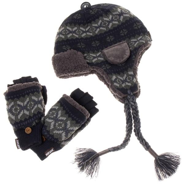 0ce4320f9f2 Shop Muk Luks Men s Trapper Hat and Flip Mitten Set - Free Shipping ...