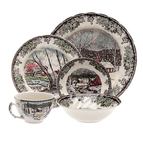 Friendly Village 20-piece Dinnerware Set