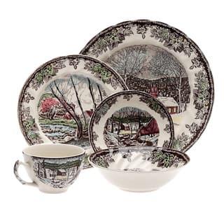Friendly Village 20-piece Dinnerware Set