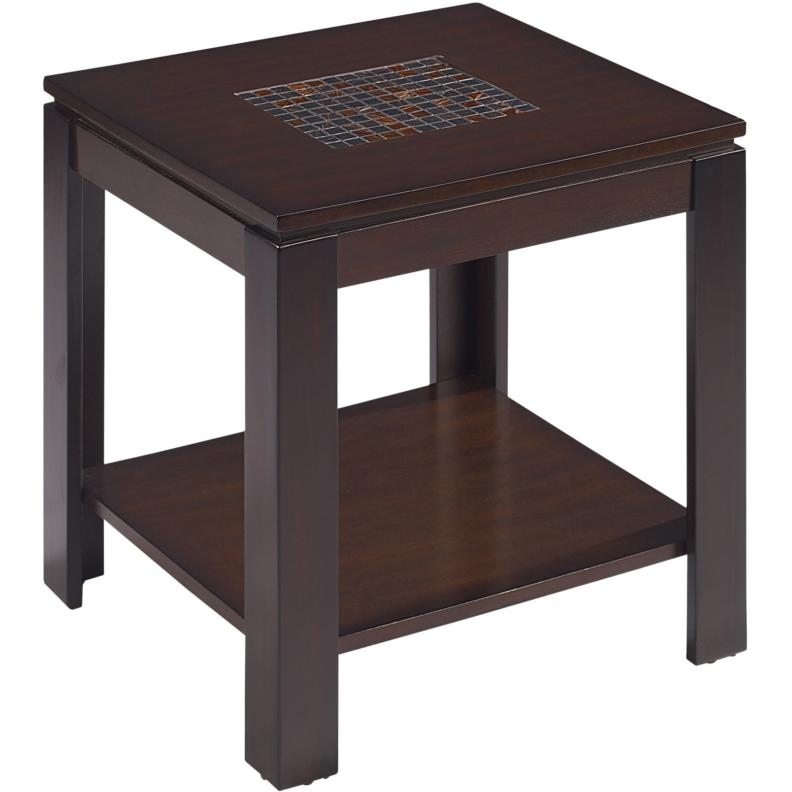 Emerald Mosaic Stone Contemporary End Table (Mosaic Stone...