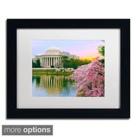 CATeyes 'Cherry Blossoms 6' Framed Matted Art
