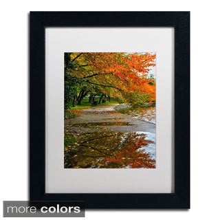CATeyes 'Tidal Basin Autumn 1' Framed Matted Art