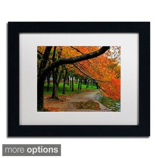 CATeyes 'Tidal Basin Autumn 2' Framed Matted Art