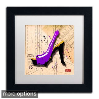 Roderick Stevens 'Suede Heel Purple' Framed Matted Art