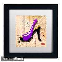 Roderick Stevens 'Suede Heel Purple' Framed Matted Art