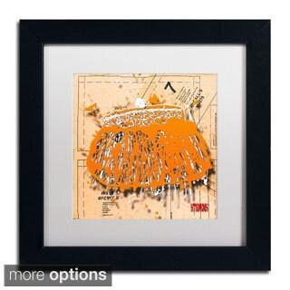 Roderick Stevens 'Snap Purse Orange' Framed Matted Art