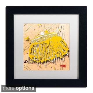 Roderick Stevens 'Snap Purse Yellow' Framed Matted Art