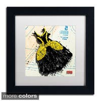 Roderick Stevens 'Black n Yellow Swirls' Framed Matted Art