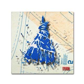 Roderick Stevens 'Shoulder Dress Blue n White' Canvas Art