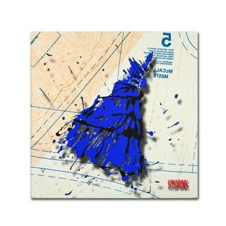 Roderick Stevens 'Shoulder Dress Blue n Black' Canvas Art