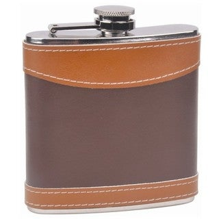 Two-tone Leather 6-ounce Hip Flask