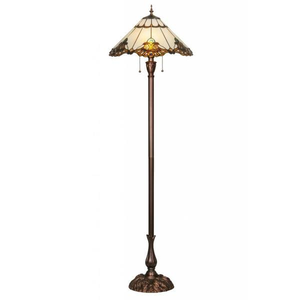 63-inch Shell with Jewels Floor Lamp