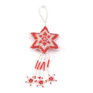 Hand-beaded 3-D Star Ornament (Guatemala)