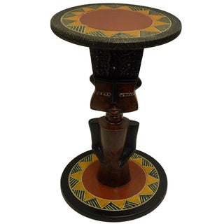 Handmade Hand-styled Fante Arts Table (Ghana)