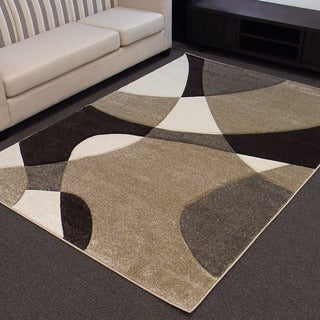 Hollywood design-284 Abstract Champaign 5'x7' Area Rug