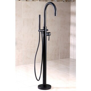 Floor Mount Oil Rubbed Bronze Tub Filler with Hand Shower