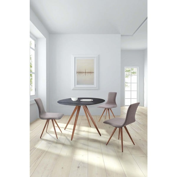 Grapeland Heights Mid Century Walnut And Black Dining Table