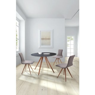 Grapeland Heights Mid-century Style Dining Table Walnut & Black
