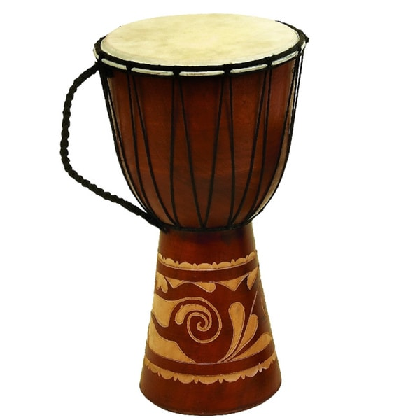 The Curated Nomad Merced Wood Leather Toca Djembe Drum