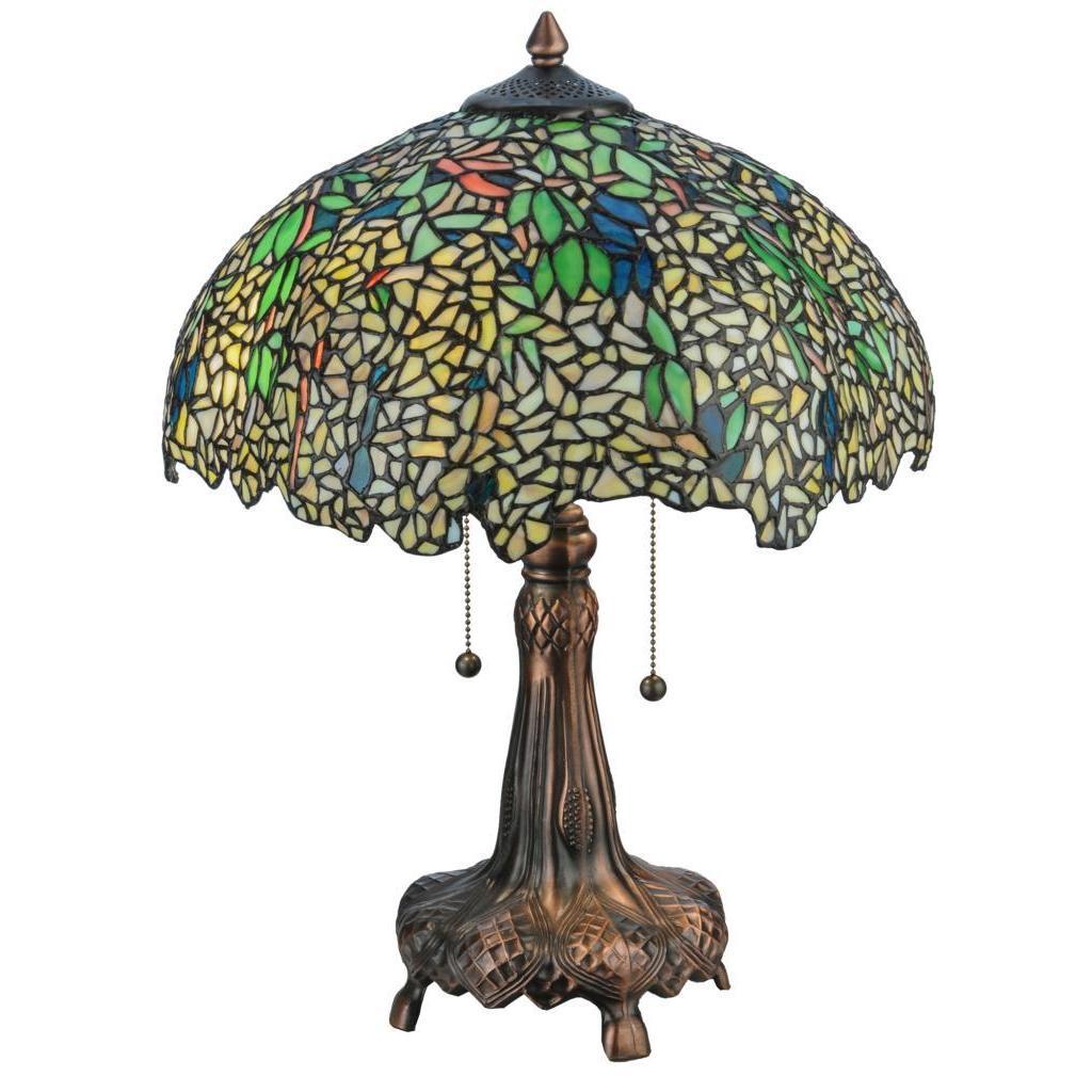Meyda Tiffany 21.5-inch Tiffany-style Laburnum Table Lamp...