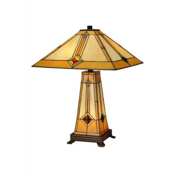 Shop Diamond Mission 2 Light Lighted Base Table Lamp Free Shipping