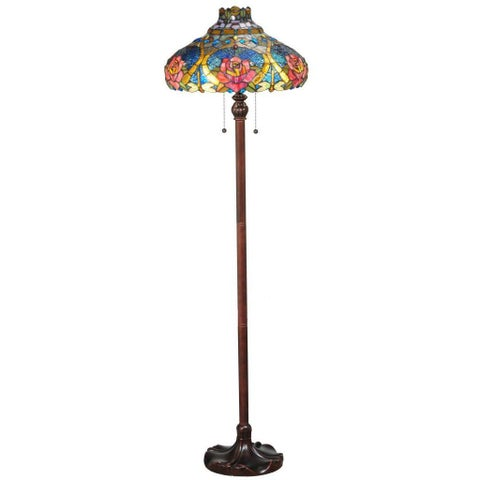 60-inch Dragonfly Rose Floor Lamp