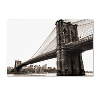 CATeyes 'Brooklyn Bridge 2' Canvas Art - Multi