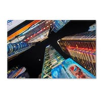 David Ayash 'Times Square NYC' Canvas Art - Multi