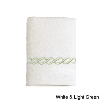 Authentic Hotel and Spa Embroidered Link Turkish Cotton Washcloth