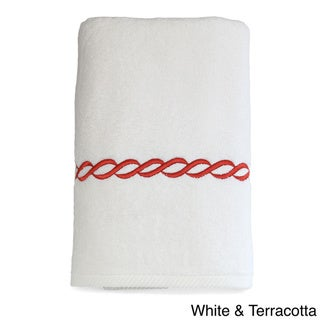 Authentic Hotel and Spa Embroidered Link Turkish Cotton Bath Towel