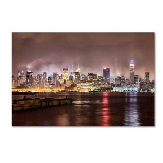 David Ayash 'Midtown Manhatten Over the Hudson River' Canvas Art