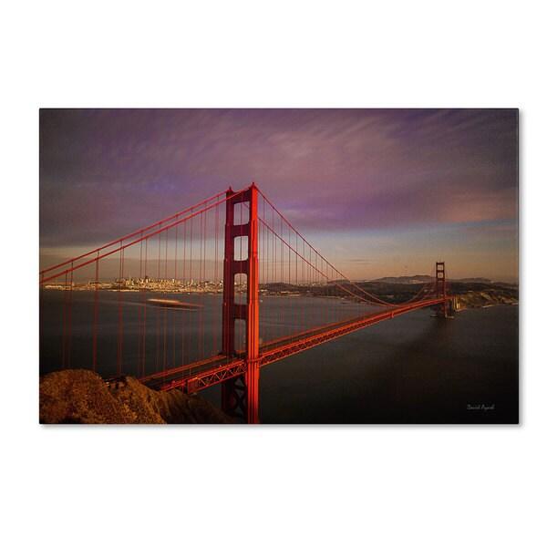 David Ayash 'Golden Gate Bridge' Canvas Art