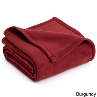 Vellux Oversized Solid Color Plush Blanket