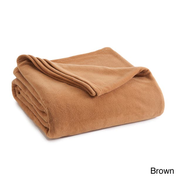 Shop Vellux Fleece Solid Color Blanket On Sale Free