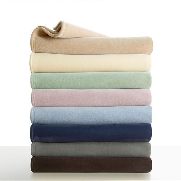 Vellux Original Solid Colored Microplush Blanket