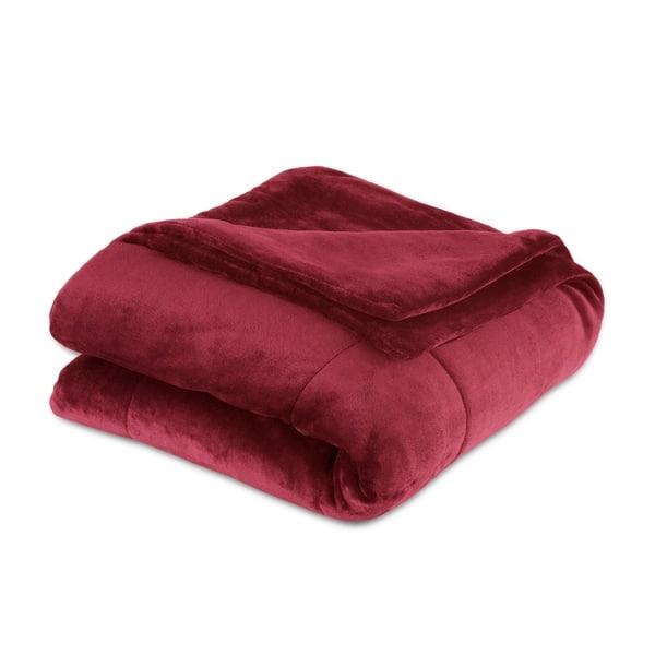 Shop Vellux Plush Lux Microplush Blanket On Sale Free