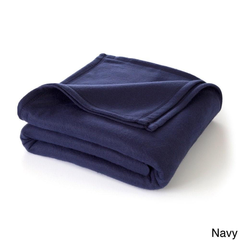 MARTEX Super-Soft Lightweight Fleece Blanket (Twin - Navy...