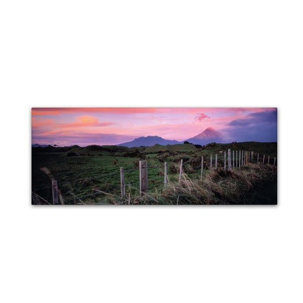 David Evans 'Mt Taranaki-NZ' Canvas Art - Multi