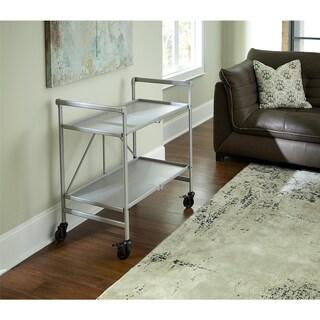 Avenue Greene Outdoor/ Indoor Metal Slat Folding Serving Cart