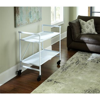 Avenue Greene Outdoor/ Indoor Metal Slat Folding Serving Cart (3 options available)