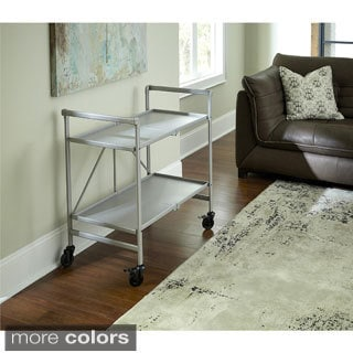 Avenue Greene Outdoor/ Indoor Metal Slat Folding Serving Cart