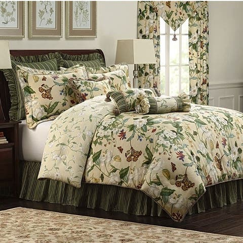 Colonial Williamsburg Garden Images 4-piece King Size Comforter Set (As Is Item)