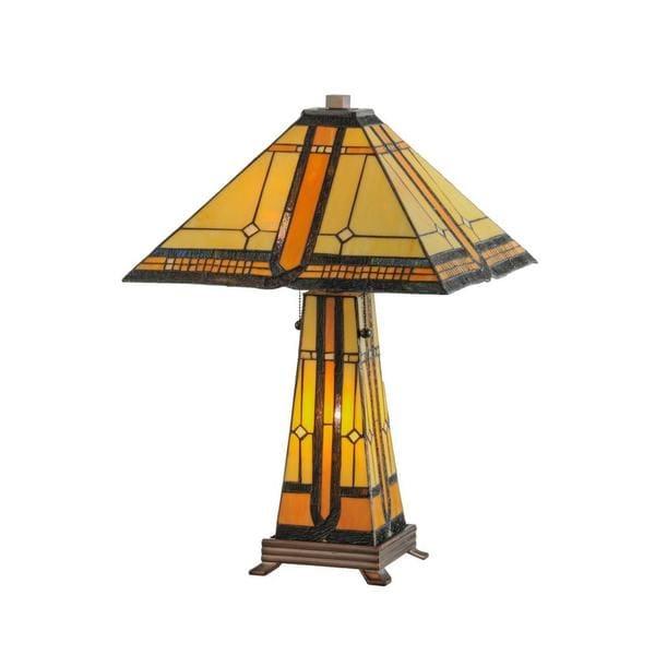 Shop Sierra Prairie Mission 2 Light Lighted Base Table Lamp Free