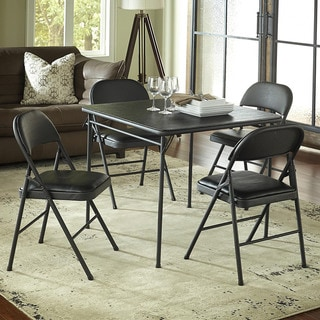 Cosco 34-inch Vinyl Top Folding Table