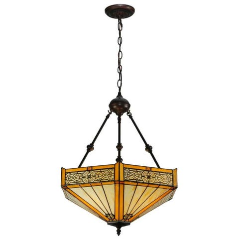 Peaches 3-light Mahogany Bronze Inverted Pendant