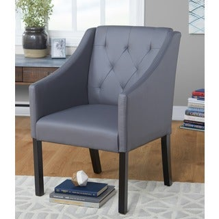 Simple Living Tufted Faux Leather Guest Chair