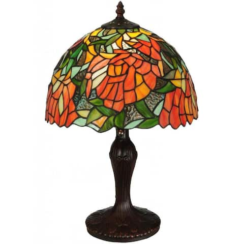 Lamella Single-light Mahogany Bronze Accent Lamp