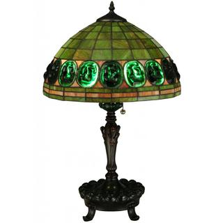 24-inch Turtleback Green Table Lamp