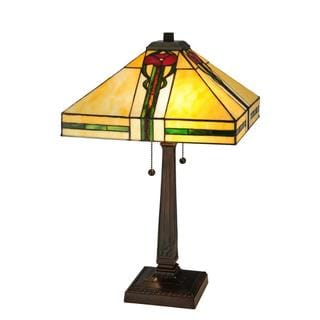 Parker Poppy 2-light Mahogany Bronze Table Lamp